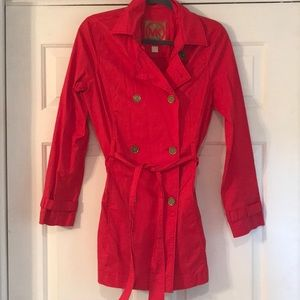 Michael Kors red trench coat!